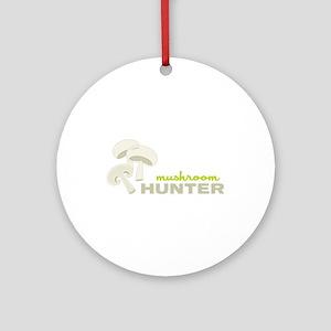 Mushroom Hunter Ornament (Round)