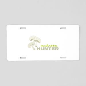 Mushroom Hunter Aluminum License Plate