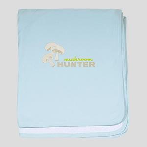 Mushroom Hunter baby blanket
