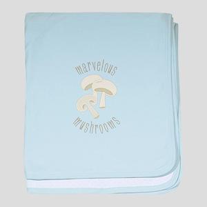 Marvelous Mushroom baby blanket