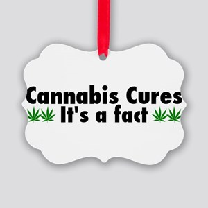 Cannabis Cures Its A Fact Picture Ornament