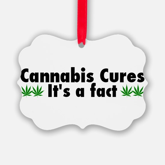 Cannabis Cures Its A Fact Ornament