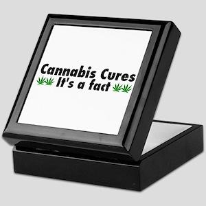 Cannabis Cures Its A Fact Keepsake Box