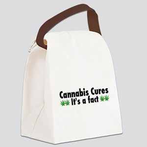 Cannabis Cures Its A Fact Canvas Lunch Bag