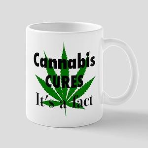 Cannabis Cures Its A Fact 11 oz Ceramic Mug