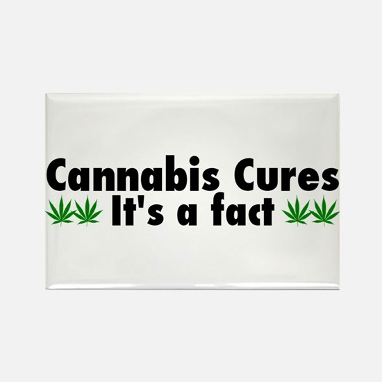 Cannabis Cures Its A Fact Rectangle Magnet