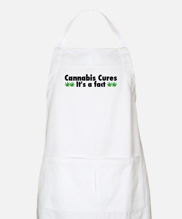 Cannabis Cures Its A Fact Light Apron