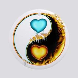 Fire and Ice Love Yang Ornament (Round)