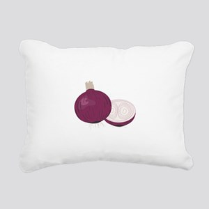 Red Onions Rectangular Canvas Pillow