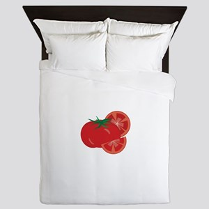 Red Tomatoes Queen Duvet