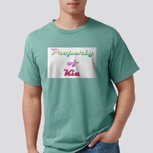 Property Of Kia Female Mens Comfort Colors Shirt