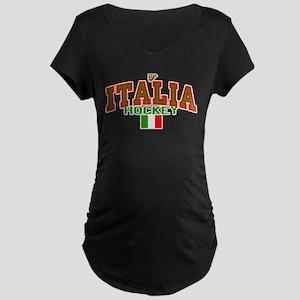 IT Italy Italia Hockey Maternity Dark T-Shirt