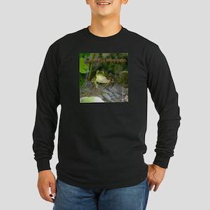 It's Easy Being Green Long Sleeve Dark T-Shirt