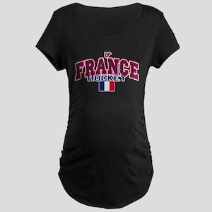 FR France Hockey Maternity Dark T-Shirt