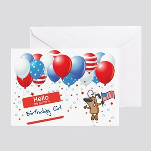 4th Of JULY BIRTHDAY GIRL Greeting Card
