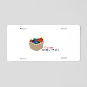 Organic Berry Farm Aluminum License Plate