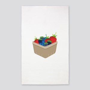 Basket of Berries 3'x5' Area Rug