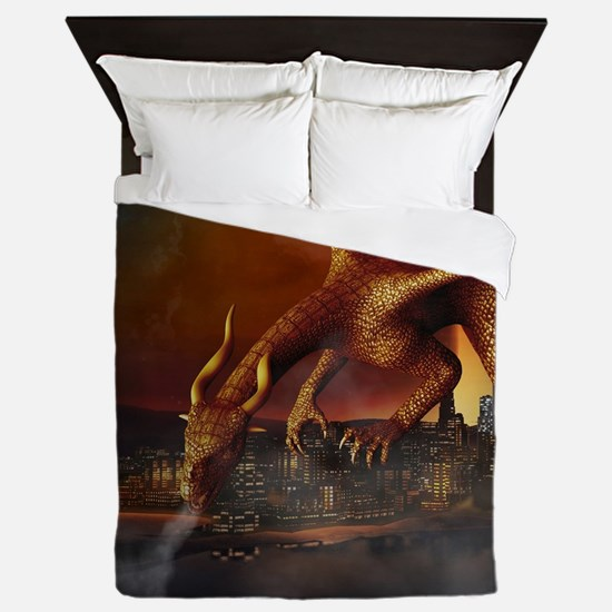 Dragon Attack Queen Duvet