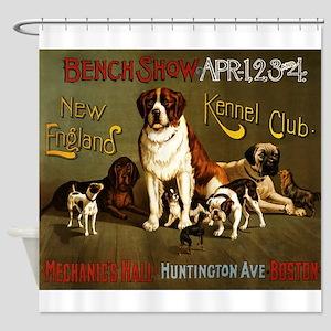 Kennel Club Dog Show In Boston; Shower Curtain