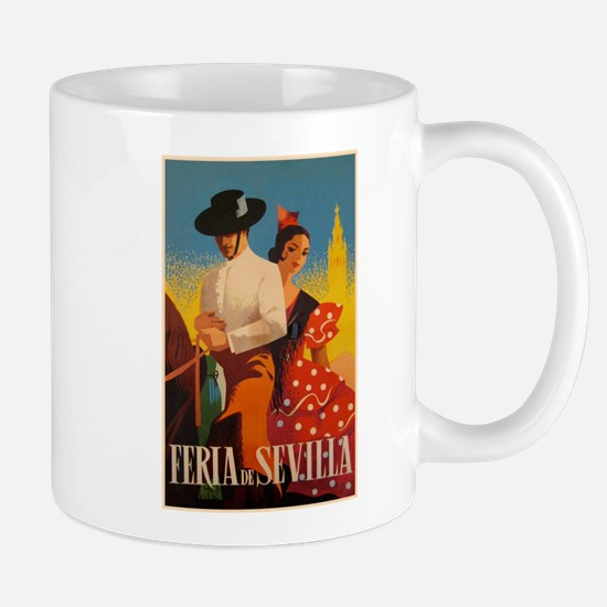 Feria de Sevilla, Spain, Vintage Art Mugs