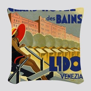 Grand Hotel des Bains, Lido, Venezia Woven Throw P