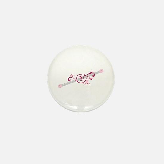 Cheerleader Baton Mini Button