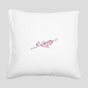 Cheerleader Baton Square Canvas Pillow