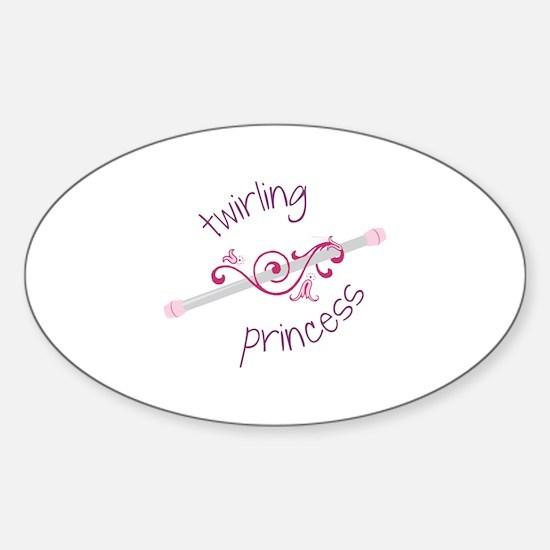 Twirling Princess Baton Decal