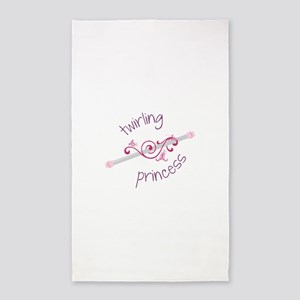 Twirling Princess Baton 3'x5' Area Rug