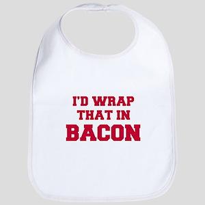 Id-wrap-that-in-bacon-FRESH-RED Bib