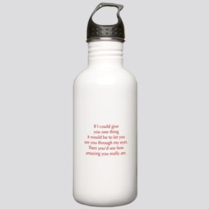 if-I-could-give-you-one-thing-opt-red Water Bottle