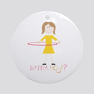 Wanna Hoop Ornament (Round)