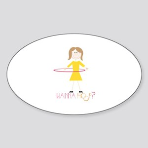 Wanna Hoop Sticker