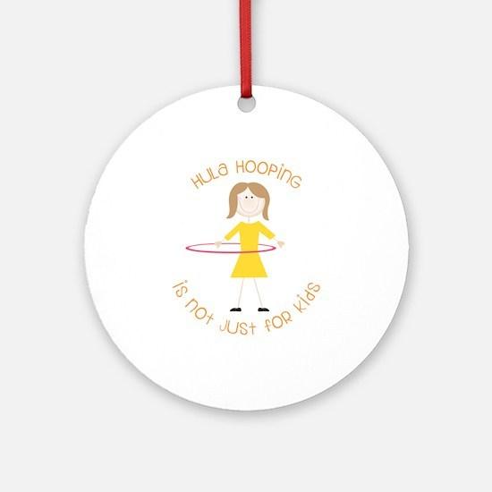 Hula Hooping Ornament (Round)