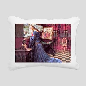 Waterhouse: Fair Rosamun Rectangular Canvas Pillow