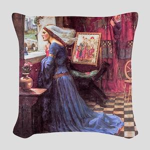 Waterhouse: Fair Rosamund Woven Throw Pillow