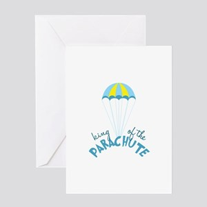 Parachute King Greeting Cards