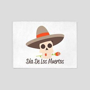 Dia De Los Muertos 5'x7'Area Rug