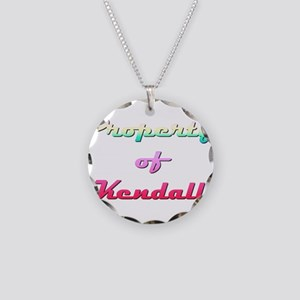 Property Of Kendall Female Necklace Circle Charm