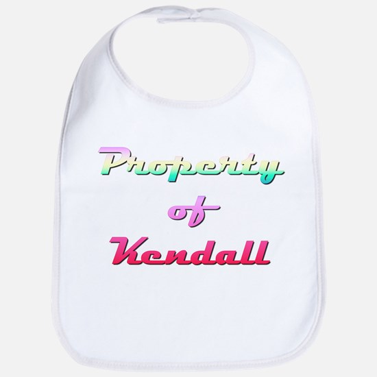 Property Of Kendall Female Cotton Baby Bib