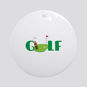 GOLF CLUBS Ornament (Round)