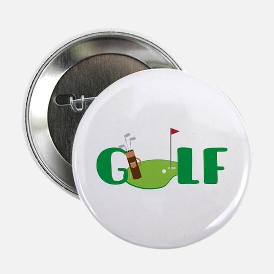 """GOLF CLUBS 2.25"""" Button"""