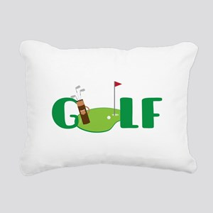 GOLF CLUBS Rectangular Canvas Pillow