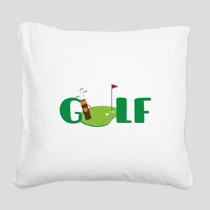 GOLF CLUBS Square Canvas Pillow