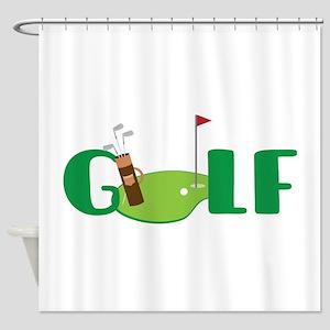 GOLF CLUBS Shower Curtain