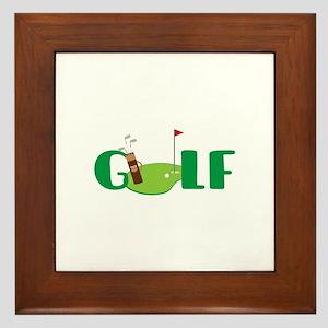 GOLF CLUBS Framed Tile