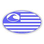 Surf International Oval Sticker