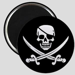 Eyepatch Skull & Crossed Swords Magnet