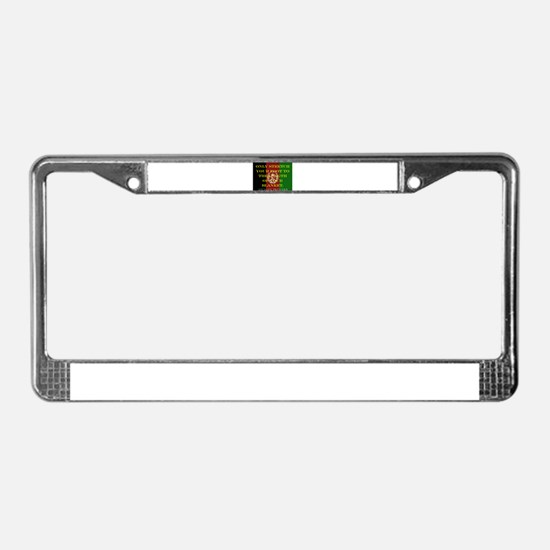 Only Stretch Your Foot License Plate Frame
