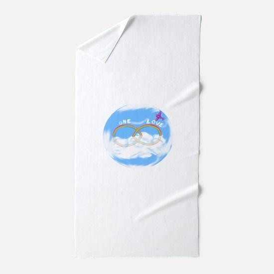 Unique Double rainbows Beach Towel